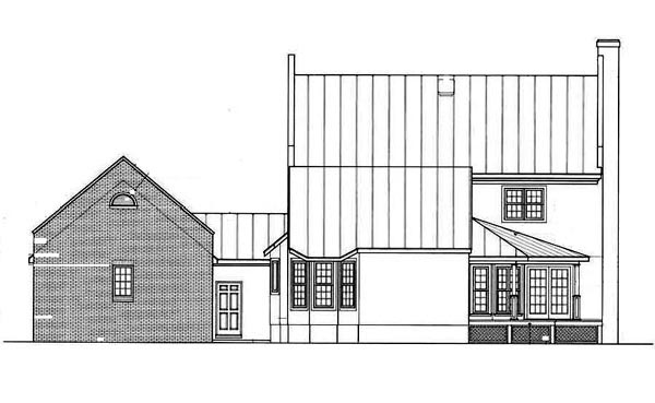 Colonial Southern House Plan 65662 Rear Elevation