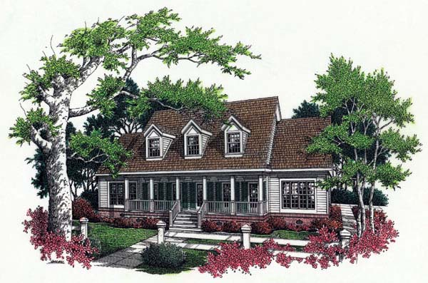 Cape Cod Country House Plan 65663 Elevation