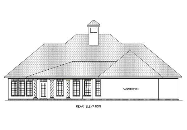 European Mediterranean House Plan 65678 Rear Elevation