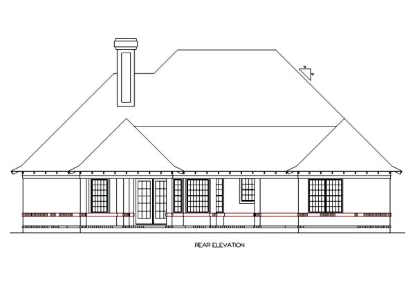Traditional House Plan 65686 Rear Elevation
