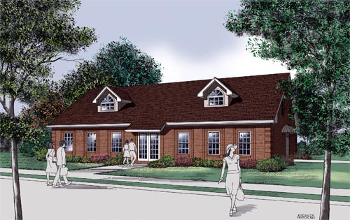 Traditional House Plan 65713 Elevation
