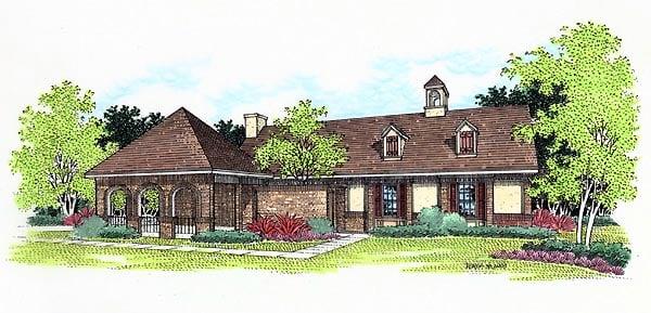 European House Plan 65749 Elevation