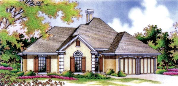 European House Plan 65760 Elevation