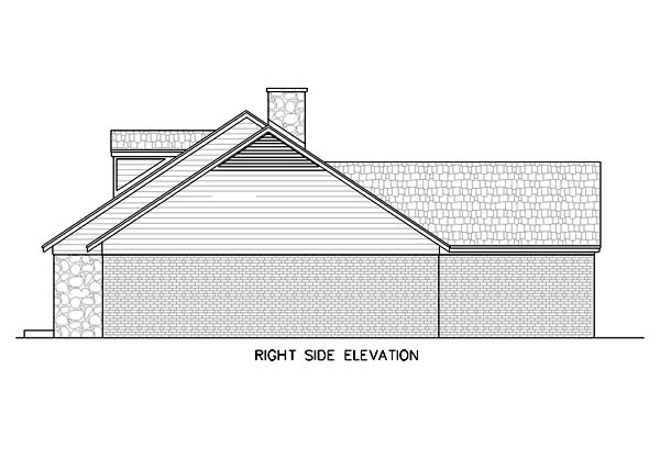 One-Story, Ranch House Plan 65769 with 4 Beds, 3 Baths, 2 Car Garage Picture 1