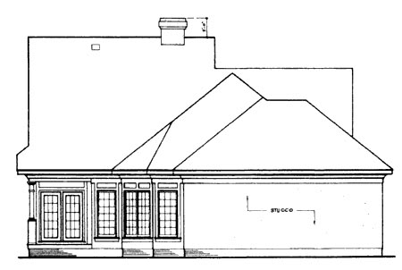Country House Plan 65774 Rear Elevation