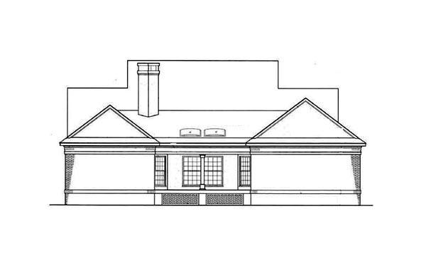 Country House Plan 65779 Rear Elevation