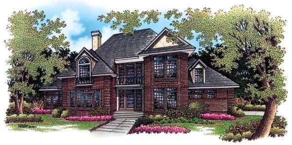 European House Plan 65798 Elevation