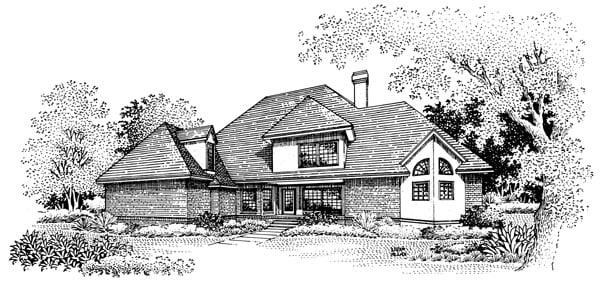 European House Plan 65798 Rear Elevation