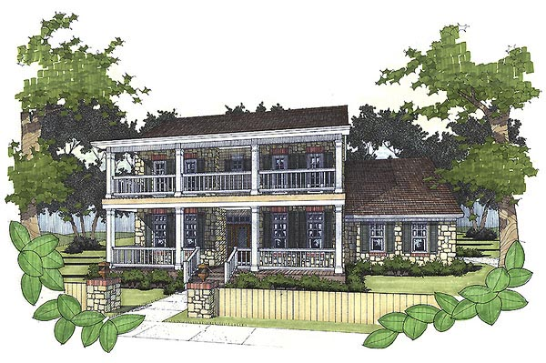 Southern House Plan 65803 Elevation
