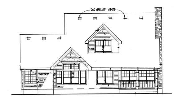 Southern House Plan 65803 Rear Elevation
