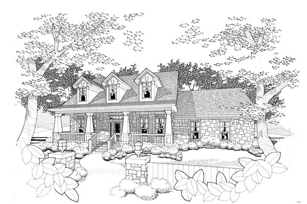 Bungalow Cape Cod Country House Plan 65804 Elevation