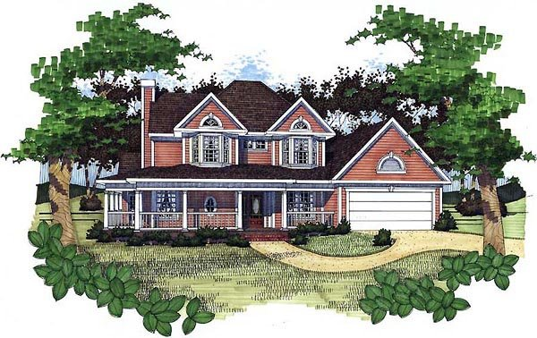 Country House Plan 65805 Elevation
