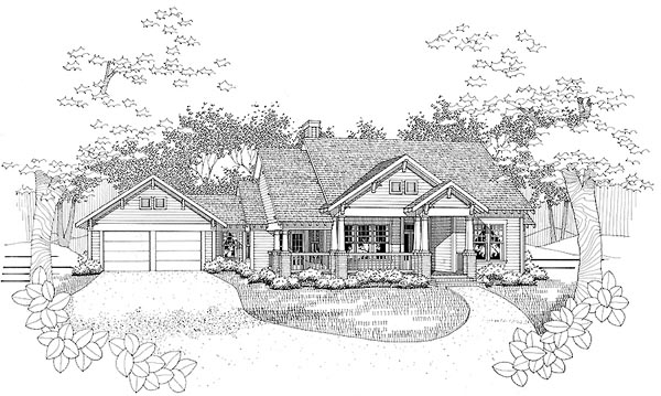 Traditional House Plan 65808 Elevation