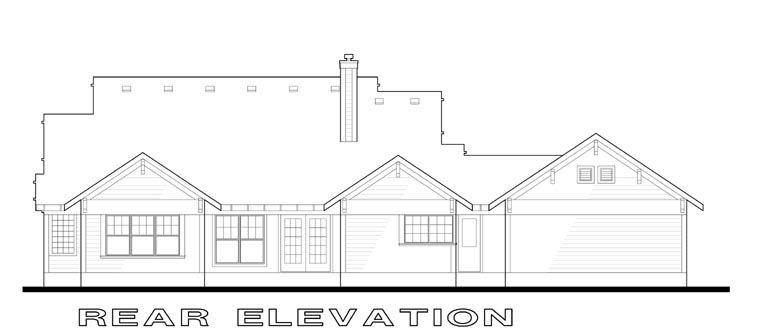 Traditional House Plan 65808 Rear Elevation