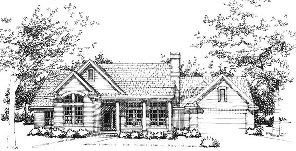 Traditional House Plan 65809 Elevation