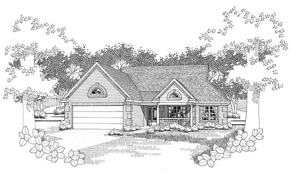 Traditional House Plan 65817 Elevation