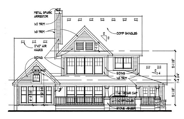 Country House Plan 65818 Rear Elevation