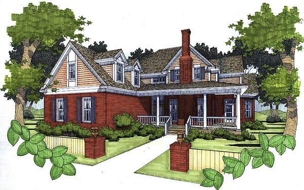 Traditional House Plan 65824 Elevation