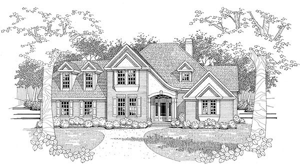 Traditional House Plan 65825 Elevation