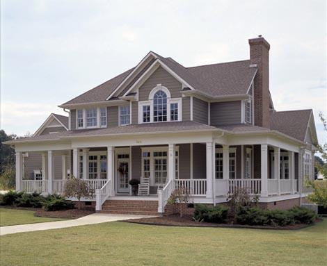 Country Farmhouse Southern House Plan 65826