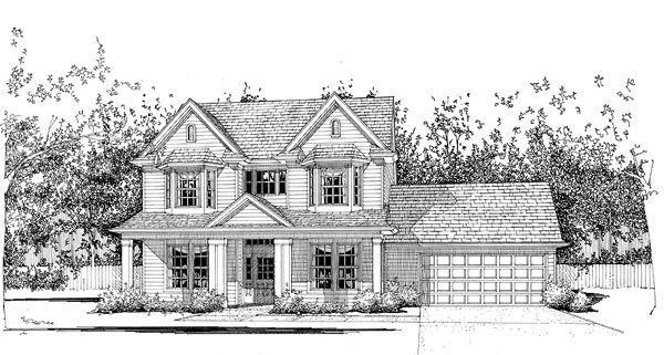 Country House Plan 65827 Elevation