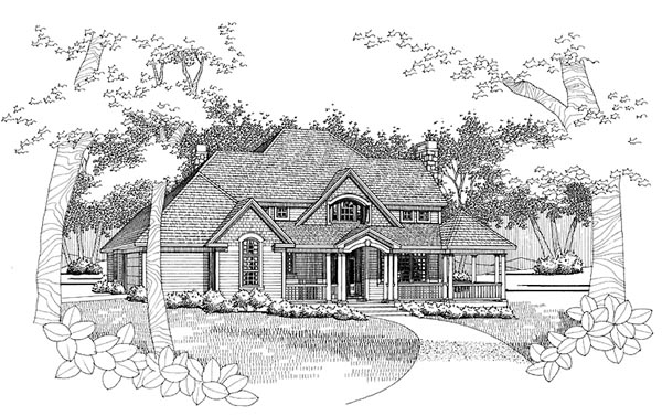 Traditional House Plan 65828 Elevation
