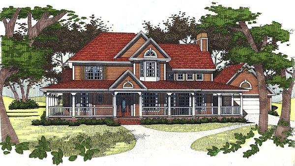 Farmhouse House Plan 65831 Elevation