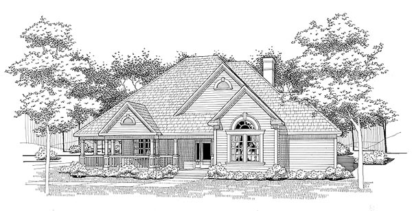 Traditional House Plan 65832 Elevation