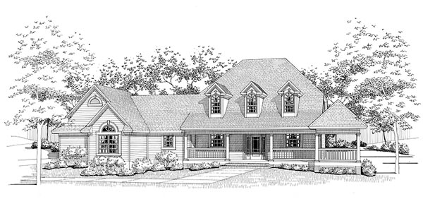 Country House Plan 65834 Elevation