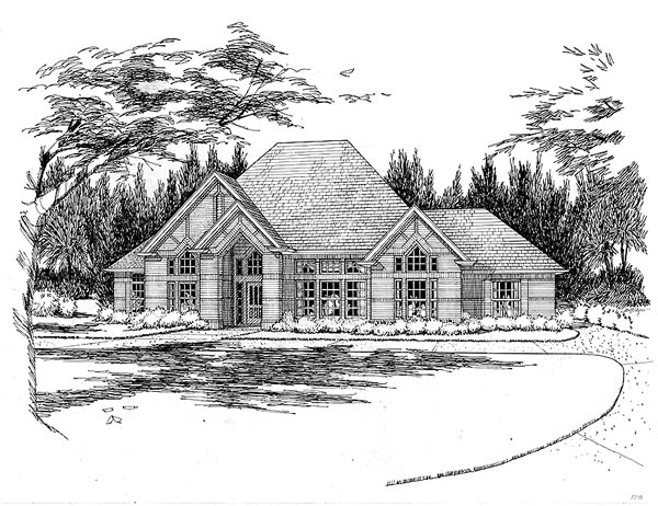 Traditional House Plan 65836 Elevation