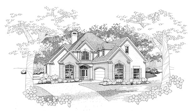 Traditional House Plan 65837 Elevation