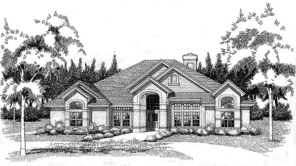 Traditional House Plan 65840 Elevation