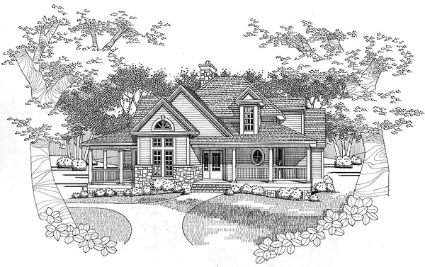 Country House Plan 65843 Elevation