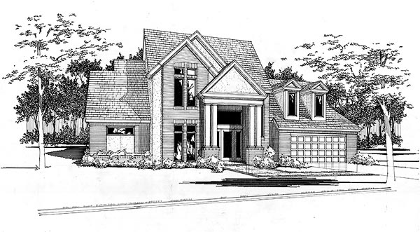 Contemporary House Plan 65854 Elevation