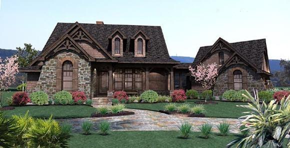 Cottage, Craftsman, Tuscan House Plan 65866 with 3 Beds, 3 Baths, 2 Car Garage Elevation