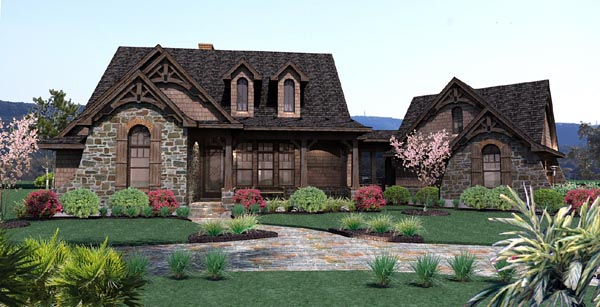 Cottage Craftsman Tuscan House Plan 65866 Elevation