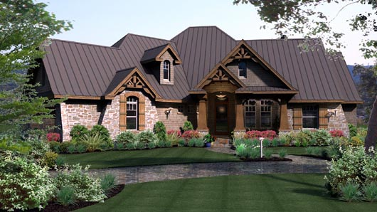house plan 65869 at familyhomeplans com craftsman style house plans split level craftsman style