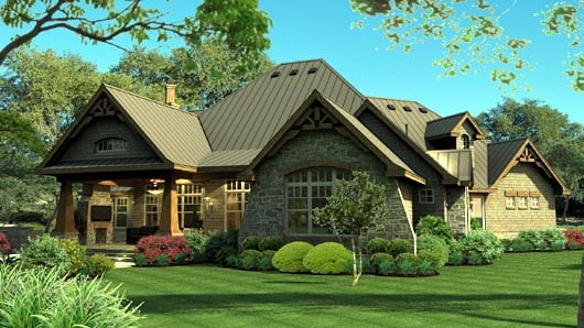 Cottage Craftsman Tuscan House Plan 65869
