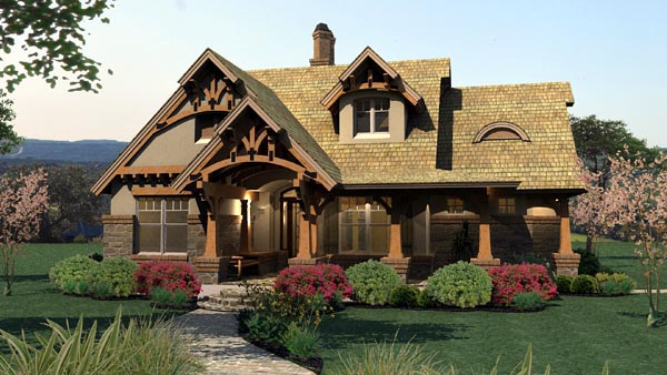 Bungalow Cottage Craftsman Tuscan House Plan 65870 Elevation