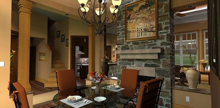 Craftsman European Tuscan House Plan 65871