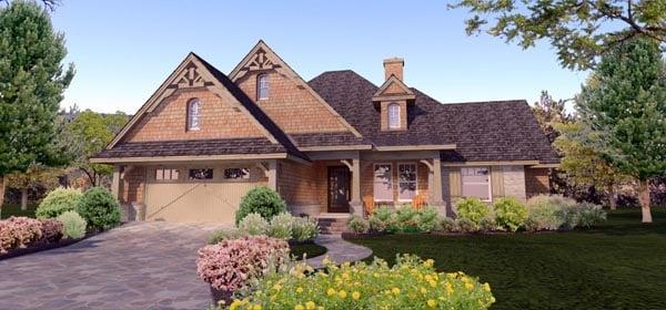 Cottage Craftsman Ranch Tuscan House Plan 65873 Elevation