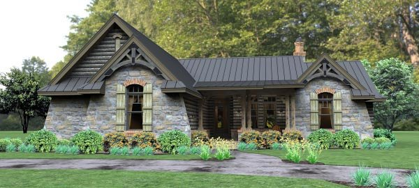 Cottage Country Tuscan House Plan 65874 Elevation