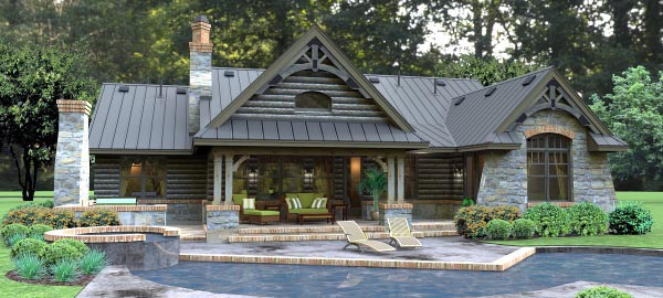 Cottage Country Tuscan House Plan 65874 Rear Elevation