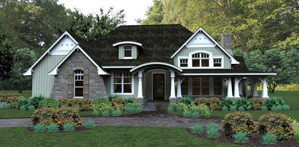Bungalow Cottage Country Tuscan House Plan 65875 Elevation