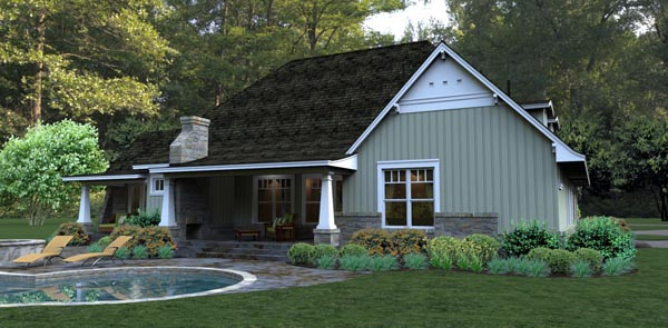 Bungalow Cottage Country Tuscan House Plan 65875