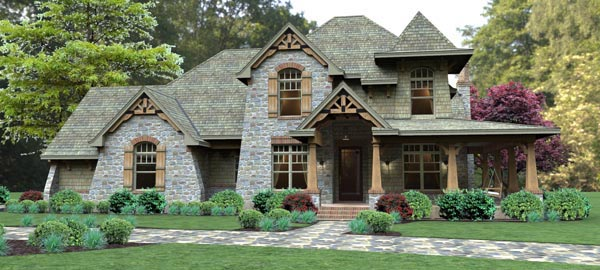 Craftsman Tuscan House Plan 65876 Elevation