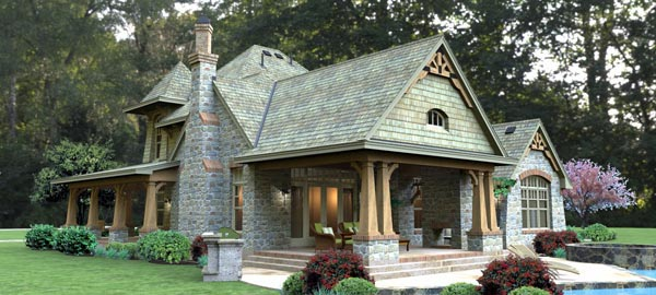 Craftsman Tuscan House Plan 65876