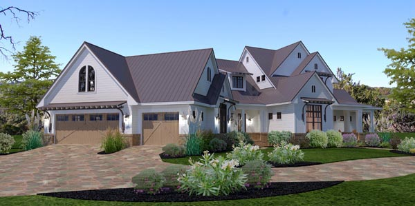 Country Farmhouse Traditional House Plan 65879