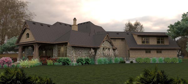 Craftsman, Tuscan House Plan 65880 with 4 Beds, 4 Baths, 3 Car Garage Picture 5