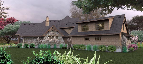 Craftsman, Tuscan House Plan 65880 with 4 Beds, 4 Baths, 3 Car Garage Picture 6